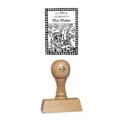 Holzstempel Exlibris Motiv 06