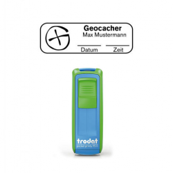 Mobile Printy 9511 Geocachingstempel Motiv Standort m. Rahmen