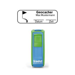 Mobile Printy 9511 Geocachingstempel Motiv Ziel m. Rahmen