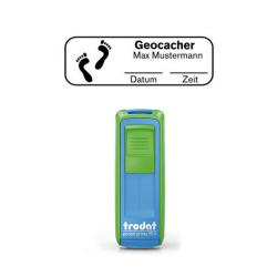 Mobile Printy 9511 Geocachingstempel Motiv Fußspuren m. Rahmen