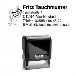 Printy 4913 Tauchstempel 31 Taucherstempel Taucher winkt