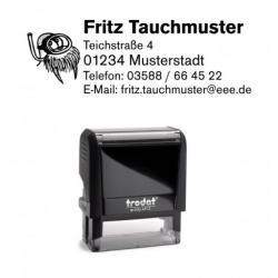 Printy 4913 Tauchstempel 34 Taucherstempel Seerobbe mit Brille
