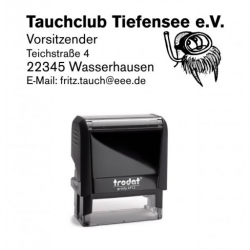 Printy 4913 Tauchstempel 39 Taucherstempel Seerobbe