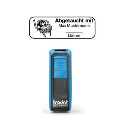 Mobile Printy 9411 Tauchstempel 59 Taucherstempel Seerobbe eckig