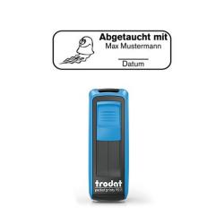 Mobile Printy 9411 Tauchstempel 62 Taucherstempel Tintenfisch eckig