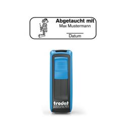 Mobile Printy 9411 Tauchstempel 65 Taucherstempel Hobbytaucher eckig