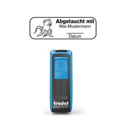 Mobile Printy 9411 Tauchstempel 68 Taucherstempel Oktopus eckig