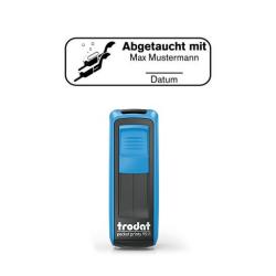 Mobile Printy 9411 Tauchstempel 71 Taucherstempel Taucherpaar eckig