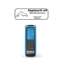 Mobile Printy 9411 Tauchstempel 75 Taucherstempel Delfin mit Rand