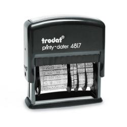 Trodat Printy 4817 Datum und Wortband Kontrolliert etc. 49x3,8 mm